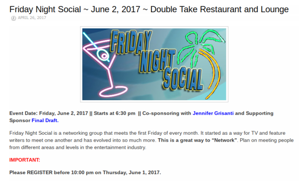 Friday Night Social June012017